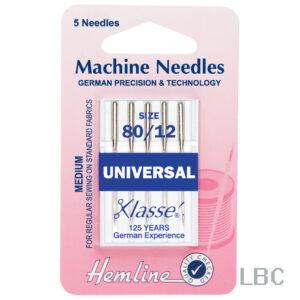 H100.80 - Hemline Machine Needle - Universal Size 80
