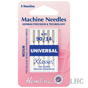 H100.90 - Hemline Machine Needle - Universal Size 90