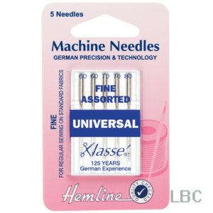 H100.991 - Hemline Machine Needle - Universal Fine Assorted