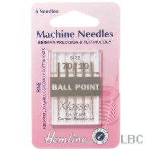 H101.70 - Hemline Machine Needle - Ball Point Size 70