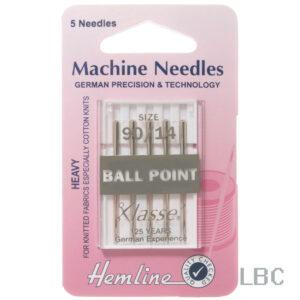 H101.90 - Hemline Machine Needle - Ball Point Size 90