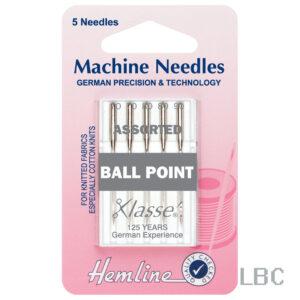 H101.99 - Hemline Machine Needle - Ball Point Assorted