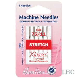 H102.75 - Hemline Machine Needle - Stretch Size 75
