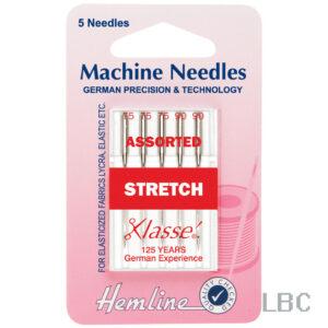 H102.99 - Hemline Machine Needle - Stretch Assorted