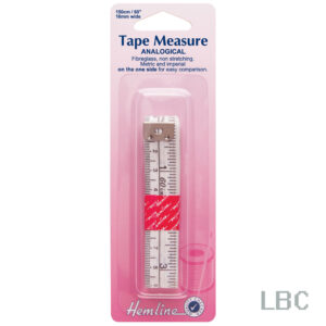 H252 - Analogical Tape Measure - Metric & Imperial on one side