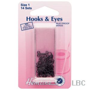 H401.1 - Hook & Eye - Black Size 1