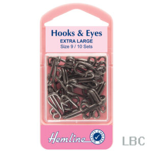 H401.9 - Hook & Eye - Black Size 9