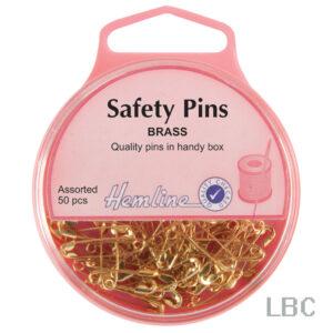 H419.99 - Safety Pins Assorted - Brass
