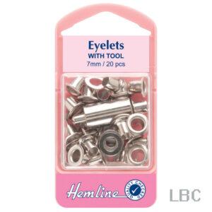 H437.N - Hemline 7mm Eyelets & Tool - Nickle