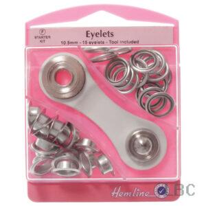 H438.10.N - Hemline 10.5mm Eyelets & Tool - Nickle