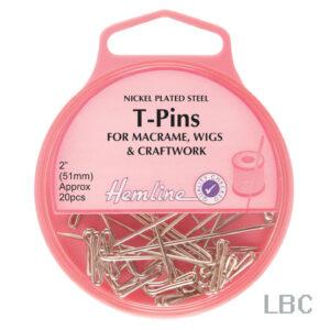 """H709 - Hemline 51mm """"T"""" PinsS"""