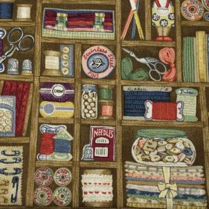 HAB1699 - Haberdashery - Boxes - Patterned Cotton Fabric