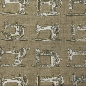 HAB1701 - Vintage Sewing Machine - Patterned Cotton Fabric