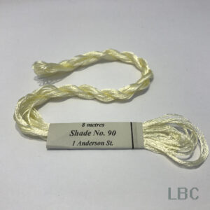 RAS090 - Winter White - Rajamahal Art Silk