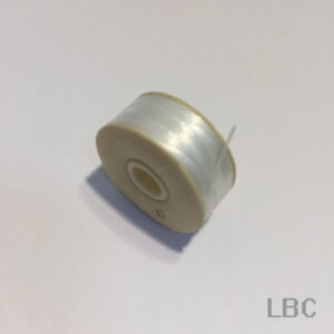 """BTN01 - White Nymo, Size """"D"""" Beading Thread"""