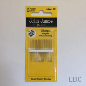 JJ11010 - Size 10 Sharps Needles - John James