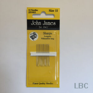 JJ11011 - Size 11 Sharps Needles - John James