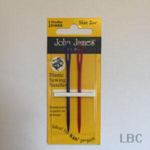 """JJ146BR - Size 2 3/4"""" Plastic Sewing Needle - John James"""