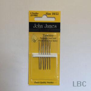 JJ19882 - Size 18/22 Tapestry Needles - John James