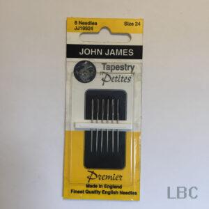 JJ19924 - Size 24 Petite Tapestry Needles - John James