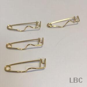 E-332g - Card Holder Brooch Clip - Gold