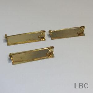 E-53g - 38x13mm Flat Brooch Bar - Gold