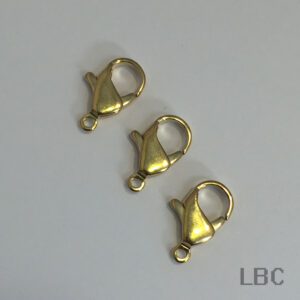 W-347-15g - 15mm Parrot Clasp - Gold