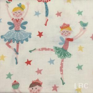 NOV1547 - Tutu Ballerina - Patterned Cotton Fabric