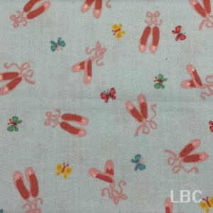 NOV1550 - Tutu Ballet Shoes - Patterned Cotton Fabric