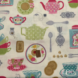 NOV1644 - Tea Party - Afternoon Tea - Patterned Cotton Fabric
