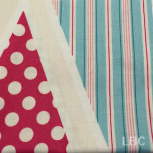 NOV1649 - Tea Party - Bunting x 2 panels - Patterned Cotton Fabric