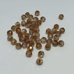 SWR001COP - Crystal Copper - Swarovski Round Facetted