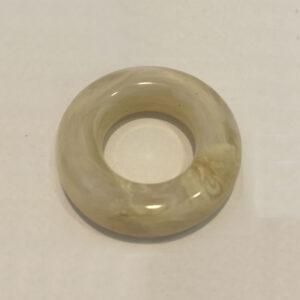 T037-D-3851 - 38mm Diameter x 10mm Large Doughnut Ring - Mottle /Cream - Italian Resin Beads