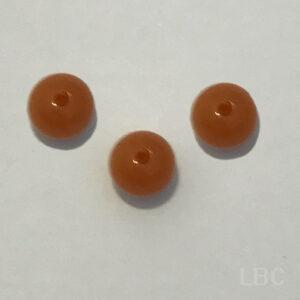T108-1027 - 8mm Small Round - Orange - Italian Resin Beads