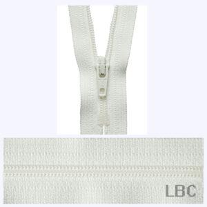 18cm Cream - Dress & Skirt Nylon Zip - Y418-502  - by YKK