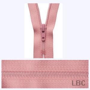20cm Dusky Pink - Dress & Skirt Nylon Zip - Y420-070  - by YKK