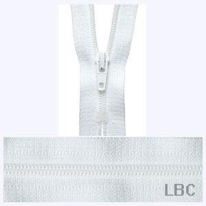 20cm White - Dress & Skirt Nylon Zip - Y420-501  - by YKK