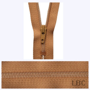 20cm Old Gold - Dress & Skirt Nylon Zip - Y420-508  - by YKK