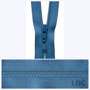 30cm Slate Blue - Dress & Skirt Nylon Zip - Y430-145  - by YKK