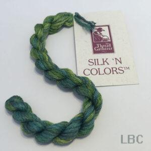 SR4009 - Evergreens - 4mm Silken Ribbons - by The Thread Gatherer