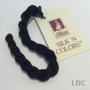 SR400B - Black - 4mm Silken Ribbons - by The Thread Gatherer