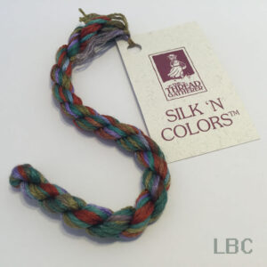 SR7007 - Peacock - 7mm Silken Ribbons - by The Thread Gatherer