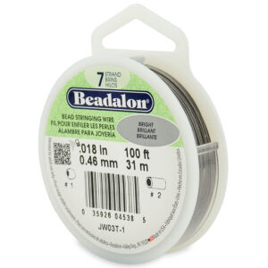 """CB0718-100 - 7 Strand Clear Flexible Stainless Steel Wire - Size 0.018"""" Diameter"""