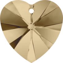 Style 6228 Swarovski Heart Pendant 10.3 x 10mm Crystal Golden Shadow