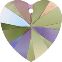 Style 6228 Swarovski Heart Pendant 10.3 x 10mm Crystal Paradise Shine