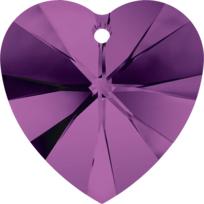 Style 6228 Swarovski Heart Pendant 10.3 x 10mm Amethyst