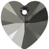 Style 6228 Swarovski Heart Pendant 10.3 x 10mm Black Diamond