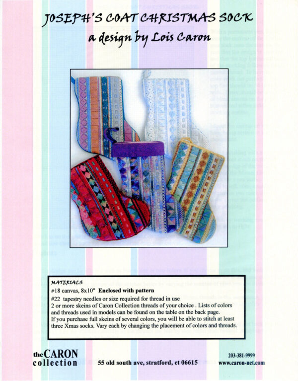 "C001 - ""Joseph's Coat"" Christmas Socks Charted Design"