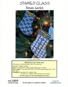 """C002 - """"Stained Glass"""" Xmas Socks Charted Design"""