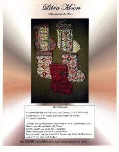 "C006 - ""Libra Moon"" Xmas Socks Charted Design"